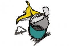 Kierrätys, kuvitus Lapin ylioppilaslehteen 2008