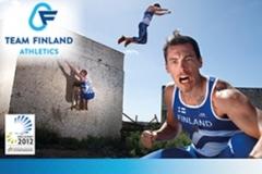 Team Finland Athletics Yleisurheilun EM-kilpailut Helsinki 2012 esitteen taitto (sivukoko A4 vaaka, sivumäärä 52)