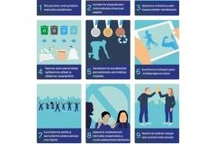 Kuvituksia Olympikomitean vastuullisuusohjelmaan, 9 kuvitusta